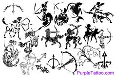 Sagittarius Zodiac Tattoo Designs