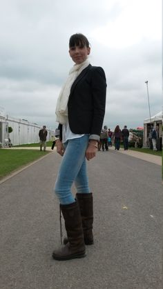 Joanne Horsfall from Barton impressed us with her quirky take on equestrian chic. We love the Dubarry boots teamed with skinny jeans and a fitted jacket. Classic and ladylike - a 10 out of Equestrian Chic, Equestrian Fashion, Dubarry Boots, 40s Style, 40s Fashion, Good Old, Well Dressed, Dapper, Skinny Jeans