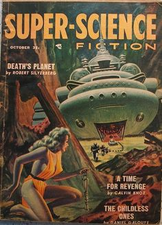 Super Science Fiction, October 1957, cover by Kelly Freas