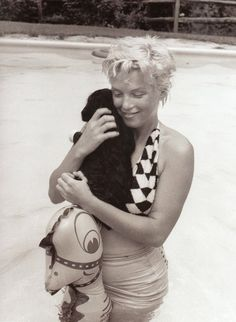 Marilyn Monroe, 1955 Extremely rare picture of MM with cropped hair