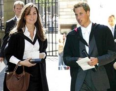Prince William and Kate Middleton on their graduation day from St. Andrews University.