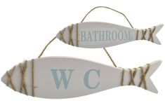 Wooden Hanging Fish Sign Bathroom Or WC Plaque Seaside Beach Theme Shabby Chic   eBay Wooden Bathroom, Bathroom Signs, Shabby Chic Colors, Wooden Fish, Seaside Beach, Nautical Bathrooms, Door Plaques, Beach Bars, Hanging Signs