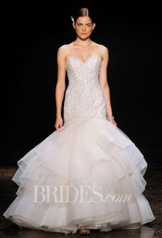 Brides.com: Lazaro - Fall 2014. Wedding Dress by Lazaro