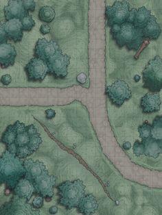 battle map maps rpg encounter random forest dungeon fantasy dnd battlemaps road battlemap night dragons dungeons roadside imgur pathfinder dd