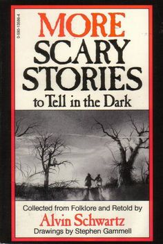is a series of three children's books written by Alvin Schwartz and illustrated by Stephen Gammell. The scary stories of the title are pieces of folklore and urban legends collected and adapted by Schwartz. The titles of the books are Scary Stories To Tell In The Dark (1981), More Scary Stories To Tell In The Dark (1984), and Scary Stories 3 : More Tales To Chill Your Bones (1991).