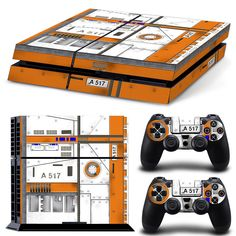 PS4 Playstation 4 Console Skin Decal Sticker Airplanes Board 747 Custom Set #ZoomHit