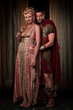 Spartacus - lithyia and Gaius Glaber