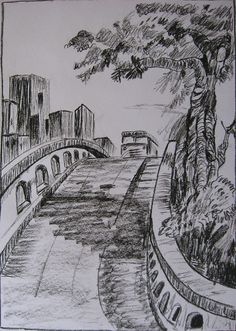 Charcoal sketch-Another landscape by Latha's Sketches, via Flickr