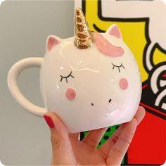 Unicorn Mug For Coffee Travel Cup Unicorn Cup Ceramic Coffee Mug Milk Cup Cute Tea Coffee Cups Drinkware Coffee Travel, Travel Cup, Unicorn Cups, Unicorn Coffee Mug, Smoothie Mix, Unicorn Crafts, Milk Cup, Ceramic Materials, Fresh Coffee