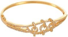 Gold Plated czech studded bangle/kada/Bracelet for Women