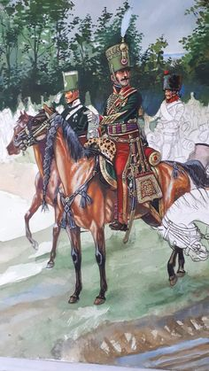 The were stationed on Napoleon's right flank at Waterloo. They tried to stop the Prussian advance late in the day. Empire, Battle Of Waterloo, Napoleonic Wars, Army, French, Illustration, Painting, Drawings, Military Uniforms