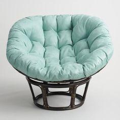 Jadeite Microsuede Papasan Chair Cushion - v1