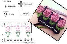Ponto de crochê - flores | MEU MUNDO CRAFT