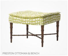 Thibaut Fine Furniture Preston Ottoman and Bench
