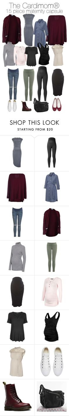 """The Cardimom® 15 piece Maternity Capsule"" by multiwear ❤ liked on Polyvore featuring Topshop, Noppies, Dorothy Perkins, Isabella Oliver, Converse, Dr. Martens and Repetto"
