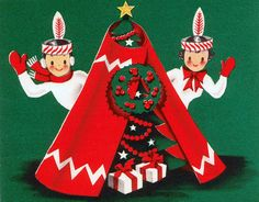 Christmas Greetings from our Wigwam by Rose Red Cottage, via Flickr.