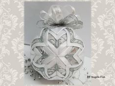 Snowman Christmas ornament/ No sew hanging tree decoration/ Quilted Christmas tree ornament/ Silver and white Christmas/ Elegant decoration by AngelsHandmadeCrafts on Etsy