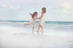 Anna Maria Island Beach Photography  Sisters on beach Family beach photography