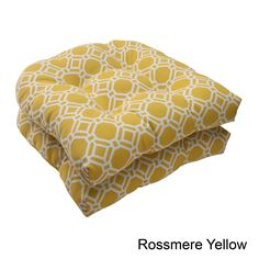 Pillow Perfect 'Rossmere' Outdoor Wicker Seat Cushions (Set of 2) (Rossmere