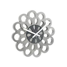 Little Black Bag | Flower Wall Clock by Present Time