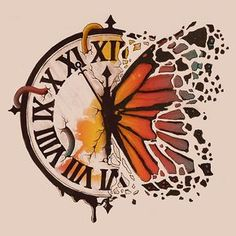 Tattoo Compass Clock Drawings 36 Trendy Ideas Best Picture For tattoo fonts For Your Taste Y Clock Drawings, Art Drawings Sketches, Tattoo Drawings, Sketch Tattoo, Fantasy Drawings, Kunst Tattoos, Arte Sketchbook, Butterfly Art, Butterflies