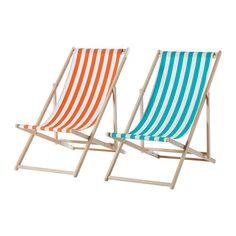 MYSINGSÖ Chaise de plage IKEA Facile à entretenir; tissu amovible et lavable.