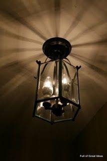 PB inspired diy lamp
