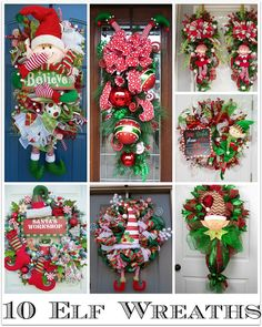 Swanocean: It's Friday I'm in Love-Christmas elf wreaths