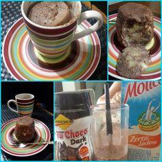 Bolo de caneca de chocolate com banana, sem glúten, sem açúcar e sem lactose