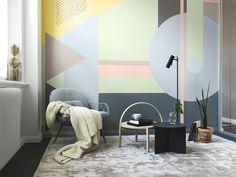 Så målar du ett mönster på väggen