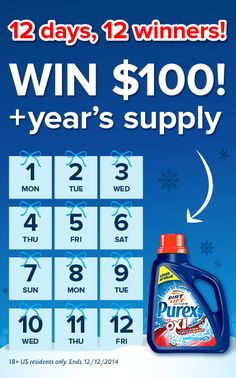 Repin if you'd like $100 and a FREE year of Purex plus Oxi!