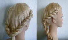 Romantische Frisur: Zwirbel/Gedrehter/Twist Zopf flechten.Greek Goddess ...