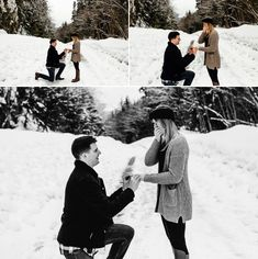It was a snowy day in Seattle when Jon asked Mckenna to be his wife. Engagement session in Leavenworth, WA. Engagement Ideas, Engagement Session, Winter Proposal, Proposal Photographer, Snowy Day, Great Friends, Little Dogs, Quality Time, Pacific Northwest