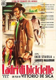 Ladri di biciclette 1948  di Vittorio De Sica.   con Lamberto Maggiorani, Enzo Staiola, Lianella Carell, Gino Saltamerenda