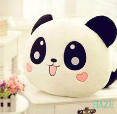 "8"" Cute Plush Lovely Doll Toy Stuffed Animal Panda Pillow Quality Bolster Great"