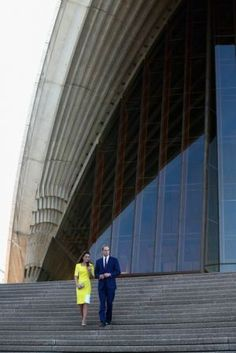 Prince William and Catherine Duchess of Cambridge at Sydney Opera House
