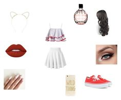 """Untitled #175"" by jacobsbae ❤ liked on Polyvore featuring Vans, Lipsy, Lime Crime, Jimmy Choo and Sonix"