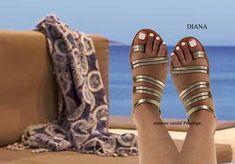 Sandali in pelle fatti a mano realizzati in Grecia da Penelope Sandals Greek Sandals, Gold Sandals, Leather Sandals, Real Leather, Soft Leather, Brown Leather, Smart Dress, Shoes Too Big, Designer Sandals