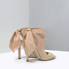 HIGH HEEL LEATHER SANDALS WITH RIBBON-View all-Shoes-WOMAN | ZARA United States