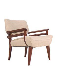 John Keal; Walnut Armchair for Brown & Saltman, 1950s.