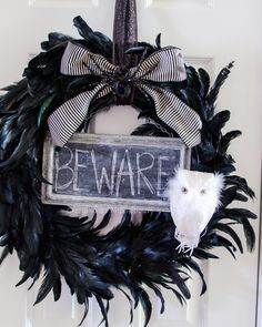 @Jillian Schmutz  I'm digging this wreath with a skull somewhere in it.