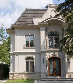 French provincial homes with colums french provincial for 70s house exterior makeover australia