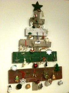 Barn Wood Christmas Tree. I have it hanging on my wall.