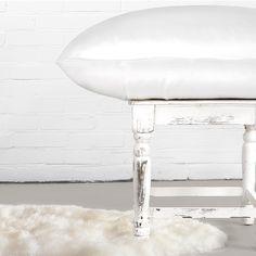 100% Puur zijden kussensloop van Silk Heaven, natural night care for skin and hair. In de kleur wit.