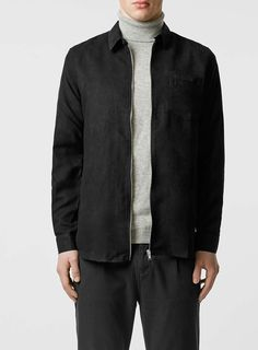 For mens fashion check out the latest ranges at Topman online and buy today. Topman - The only destination for the best in mens fashion Shirt Jacket, Bomber Jacket, Black Suede, Asos, Long Sleeve, Casual, Sleeves, Jackets, Shirts