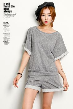 Today's Hot Pick :Loose Sweatshirt and Shorts Set http://fashionstylep.com/SFSELFAA0001762/happy745kren/out High quality Korean fashion direct from our design studio in South Korea! We offer competitive pricing and guaranteed quality products. If you have any questions about sizing feel free to contact us any time and we can provide detailed measurements.