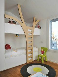 platzsparende gestaltung design hochglänzende-fronten hochbett ... - Hochbett Im Kinderzimmer Pro Und Contra Das Platzsparende Mobelstuck