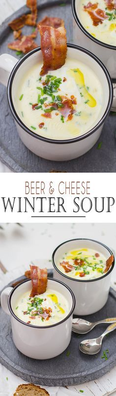 Beer and Cheese Soup with Bacon | Bier und Käsesuppe mit Speck