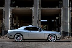 Dodge Challenger SRT8. This paint job / styling is awesome.