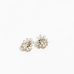 J.Crew Valentine's Day Shop: women's crystal burst earrings.